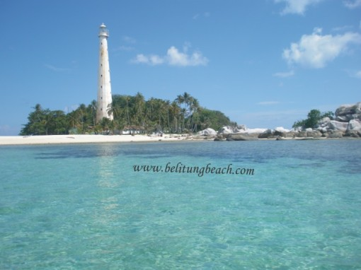 The most popular tourism destination in Belitung.